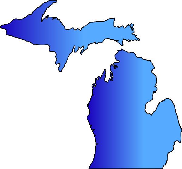 Michigan Map Blue Blend Clip Art at Clker.com.