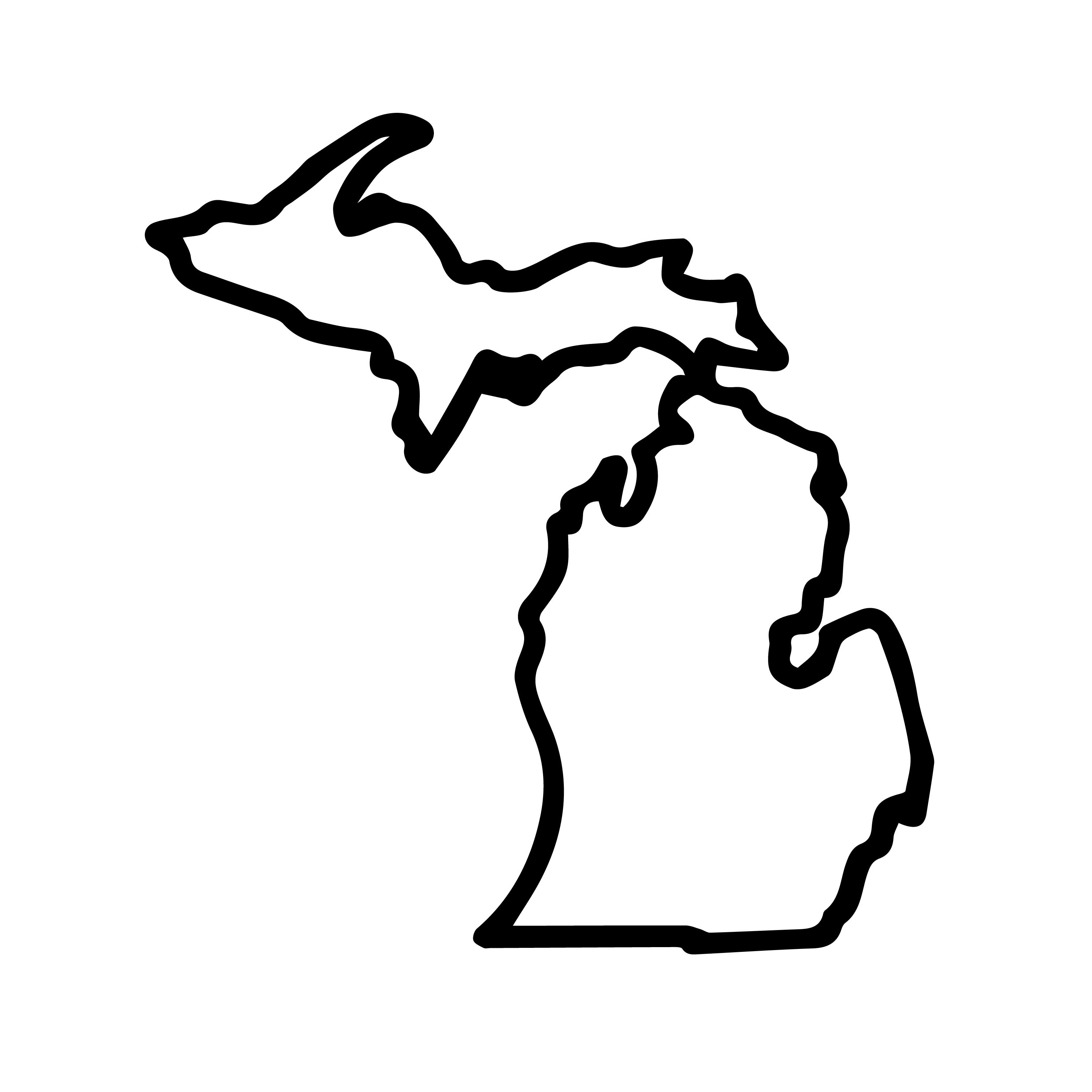 Michigan outline png 3 » PNG Image.