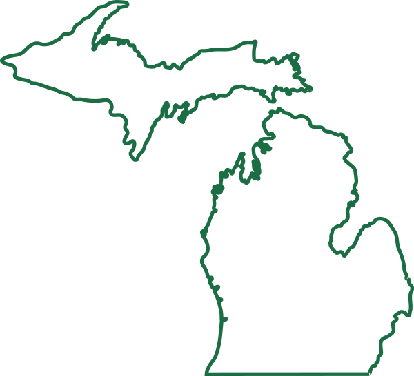 Michigan Outline Png Vector, Clipart, PSD.
