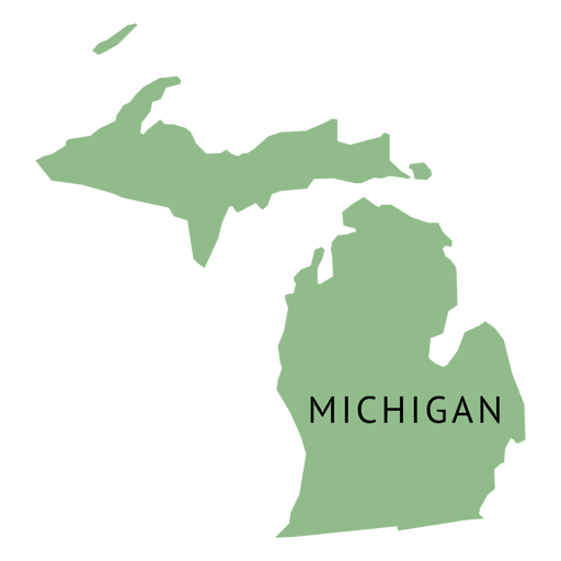 Michigan state plain map.