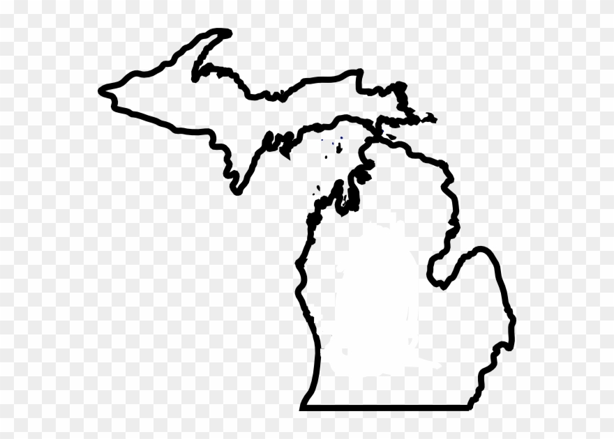 Michigan Map Thick Outline Clip Art At Clker Com.