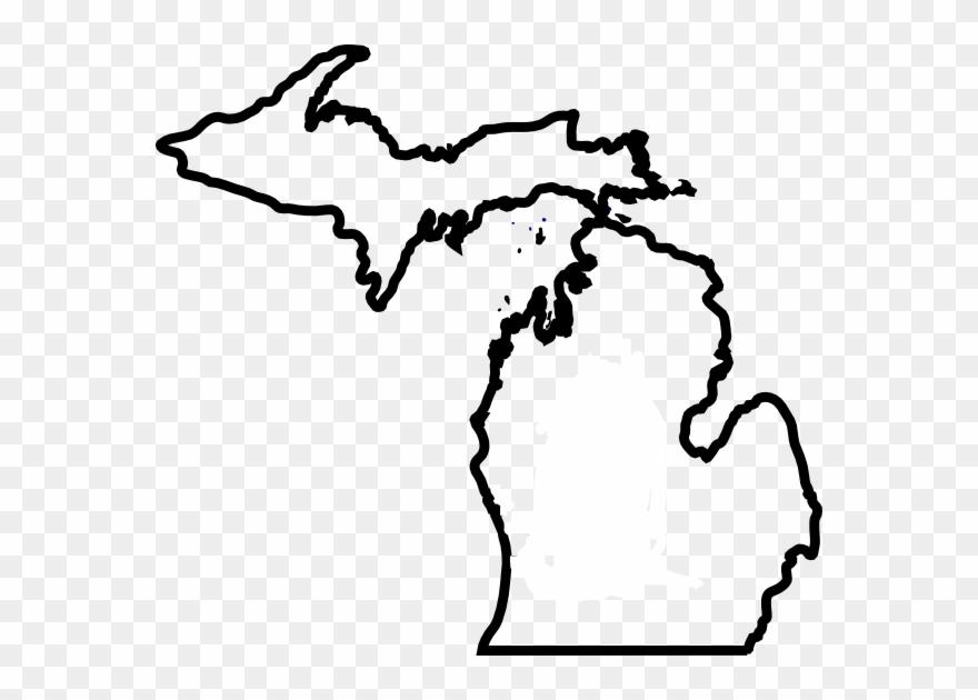 Michigan Map Thick Outline Clip Art At Clker Com.