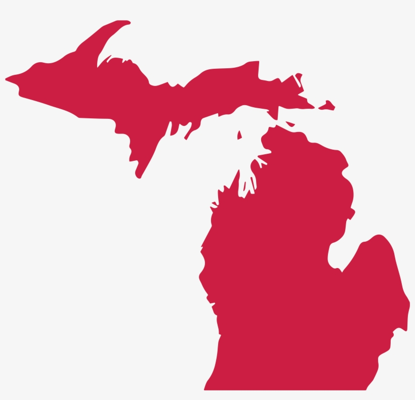 Outline Of Michigan.