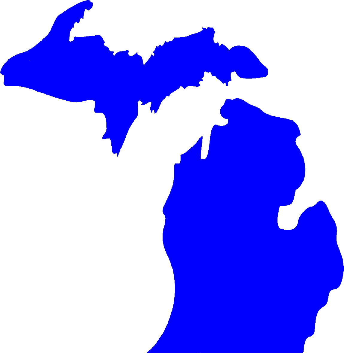 Free State Of Michigan Silhouette, Download Free Clip Art.