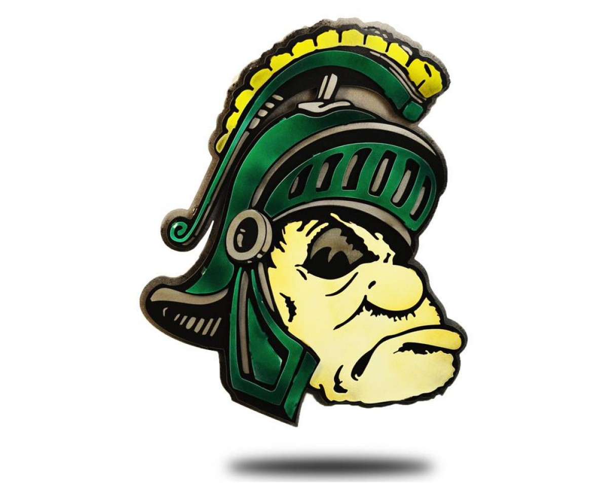Michigan State Spartan Head Clip Art Fbbaeef Michigan.