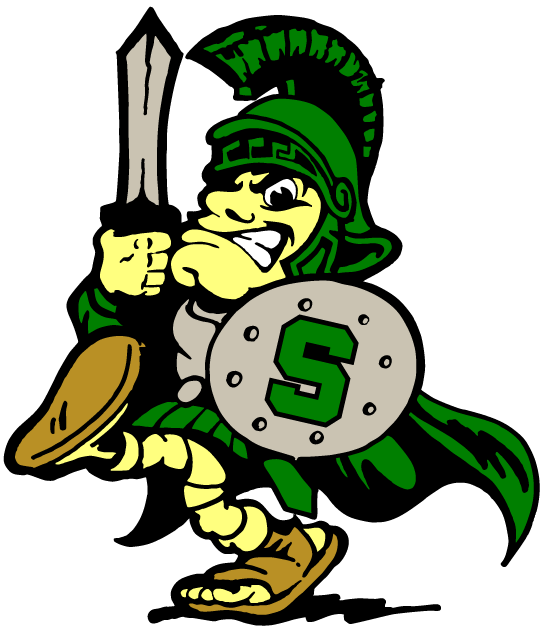 Michigan State Spartans Mascot Logo.