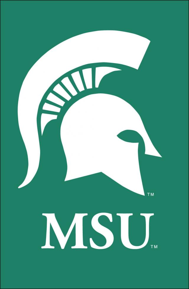 Michigan State University Logo Clip Art N6 free image.