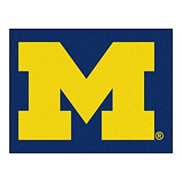 University of Michigan Wolverines Logo Area Rug.