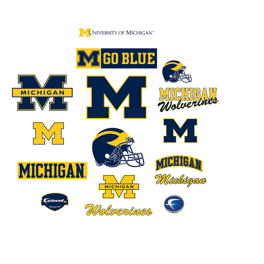 Michigan Wolverines: Logo Assortment.