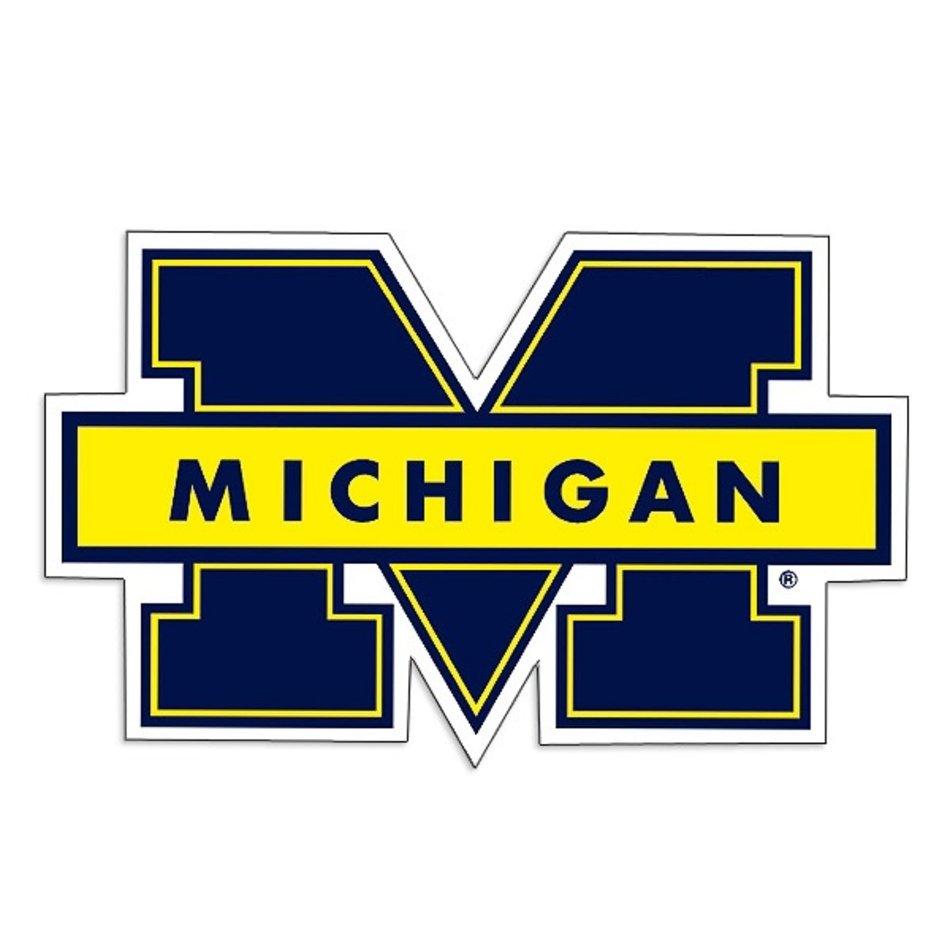Michigan Wolverines University Of 8 Logo Magnet N2 free image.