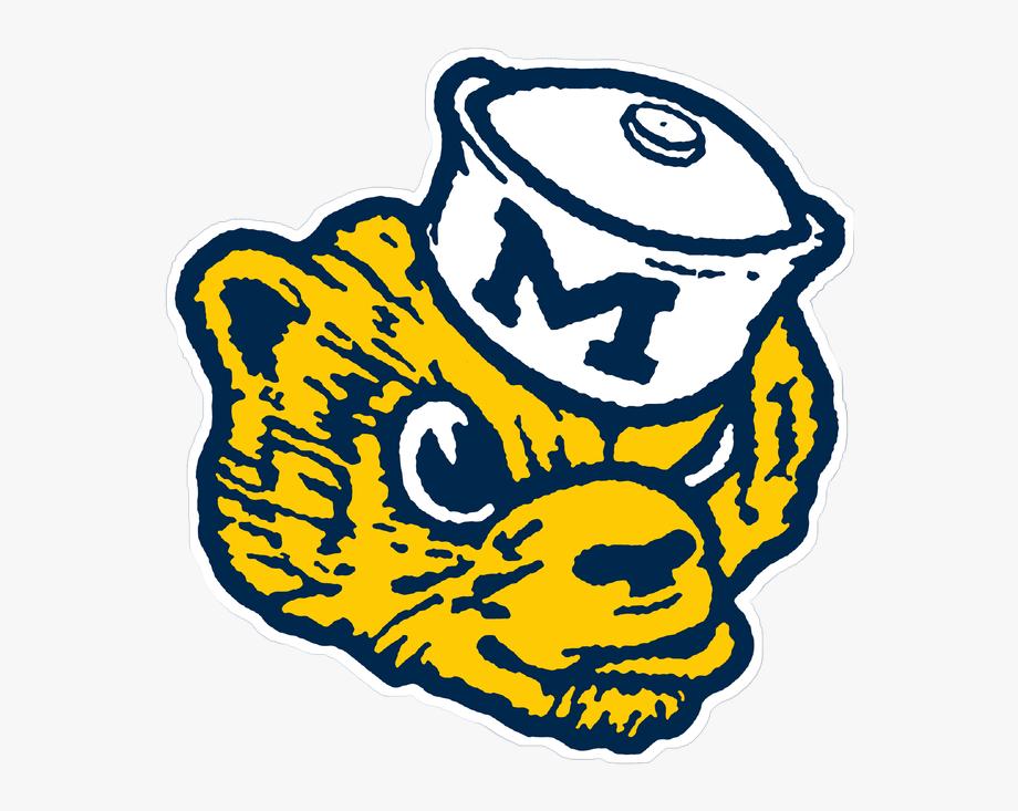 Vintage Michigan Wolverines Logo , Transparent Cartoon, Free.