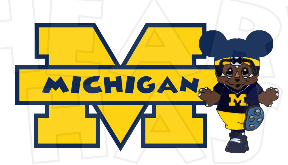 Football wolverines clipart.