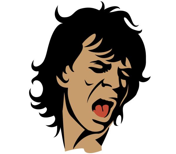 Mick Jagger Vector Portrait.