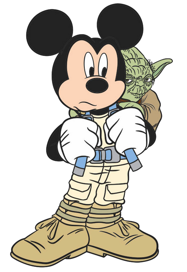 Mickey Mouse Star Wars Clipart.