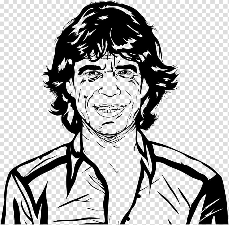 Mick Jagger Drawing Music Line art Sketch, painting.