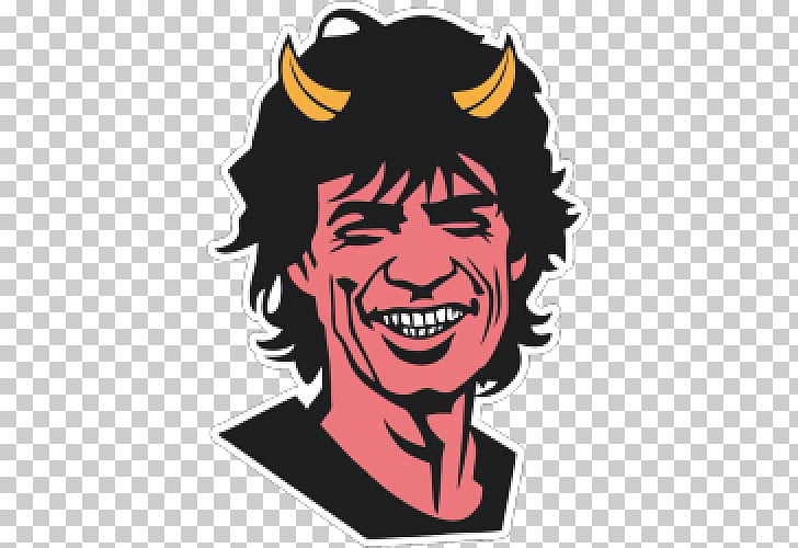 Mick Jagger Sympathy for the Devil, devil PNG clipart.