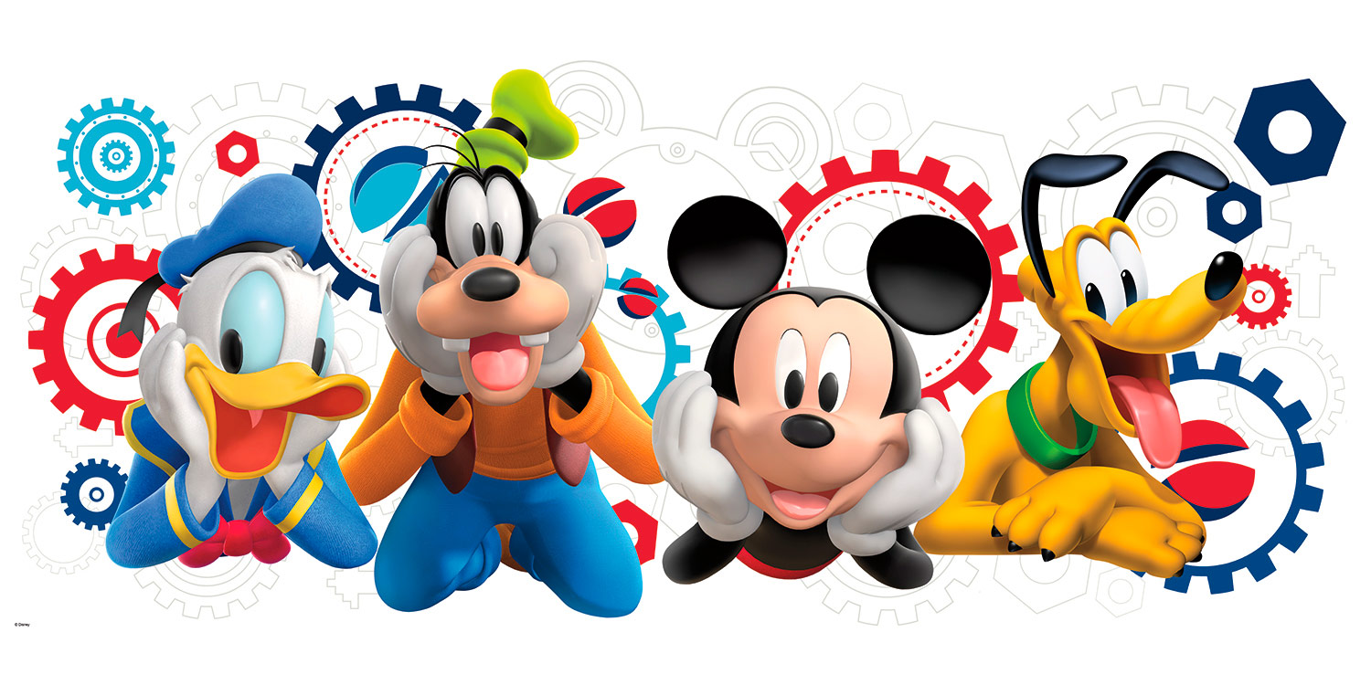 Mickey and friends.