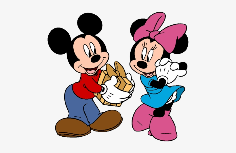 Mickey And Friends Christmas Clip Art Image.