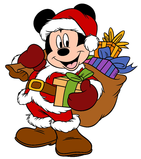 Mickey and Friends Christmas Clip Art 4.