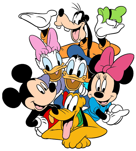 Mickey Mouse & Friends Clip Art.
