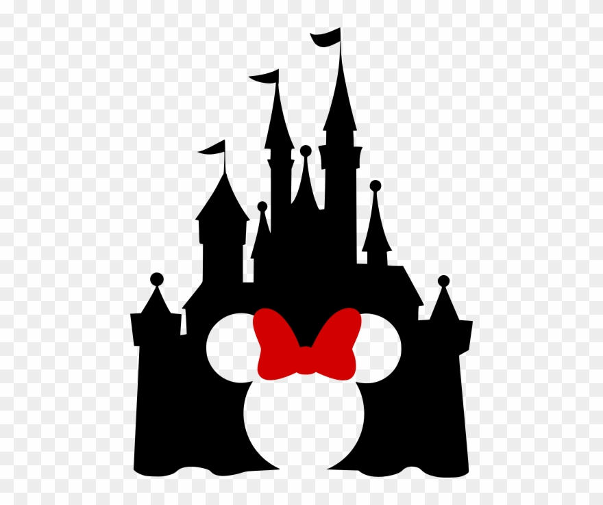 Disney Castle With Mickey Cutout.