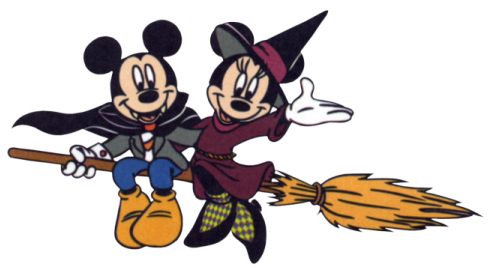 Mickey And Minnie Halloween Clipart.