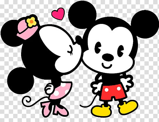 Mickey y Minnie, Disney Minnie Mouse kissing Mickey Mouse.