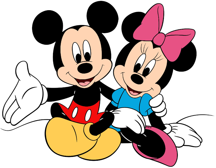Mickey & Minnie Mouse Clip Art.