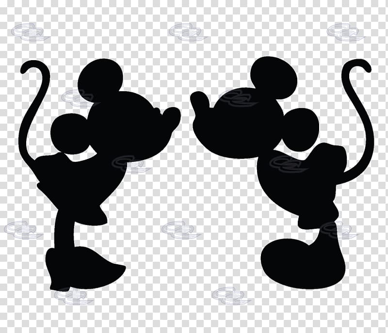 Silhouette of Mickey and Minnie Mouse s, Minnie Mouse Mickey.