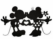 Mickey And Minnie Wedding Silhouette Clip Art.