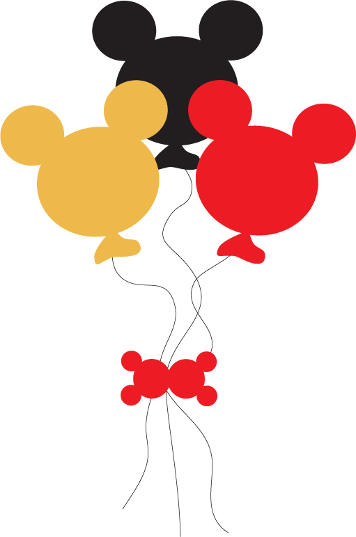 Mickey Mouse Balloons Clip Art N4 free image.