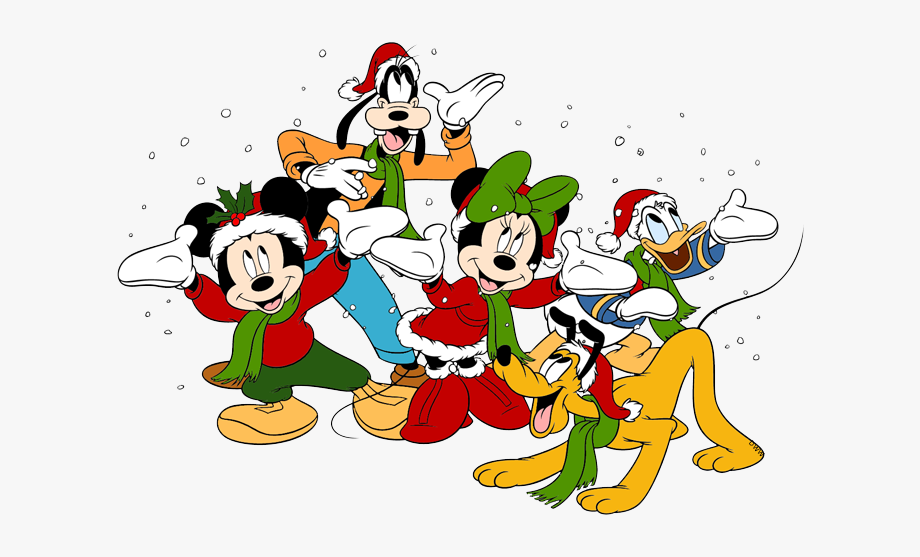 Christmas Clipart Mickey Mouse.