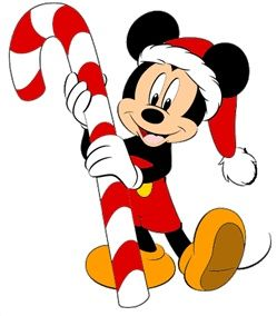 Mickey and his Candy Cane.