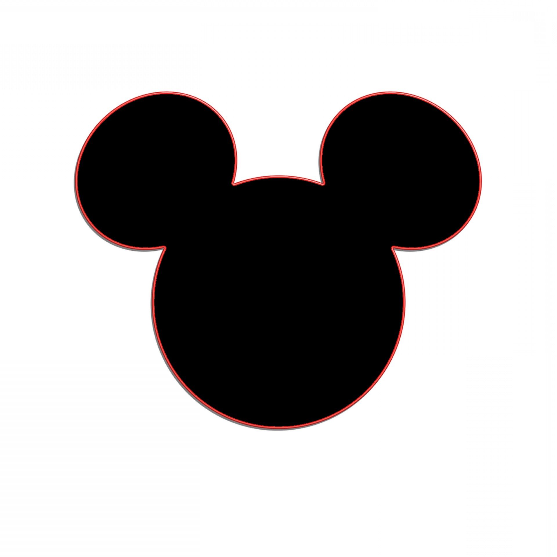 Mickey Mouse Ears Clipart Black And White.