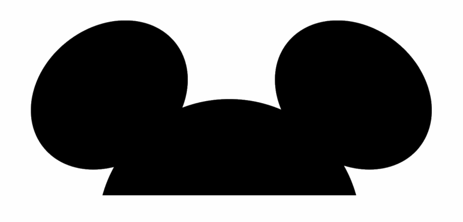 Mickey Mouse Head Silhouette.