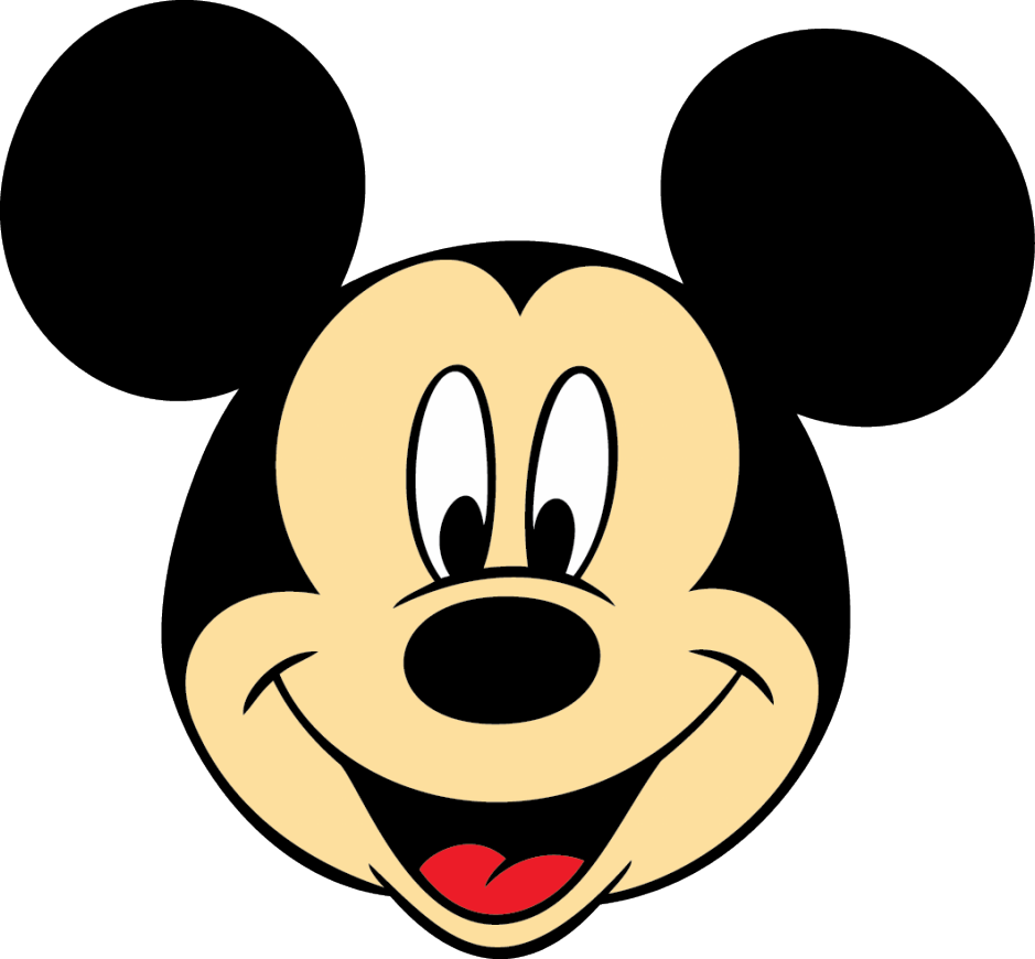 Mickey Mouse Face PNG Image.