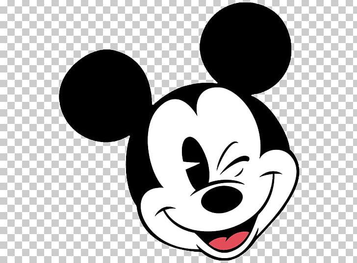 Mickey Mouse Minnie Mouse Face PNG, Clipart, Artwork, Black.