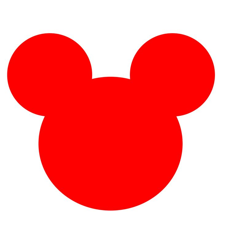 Mickey Mouse Head Silhouette Clipart.