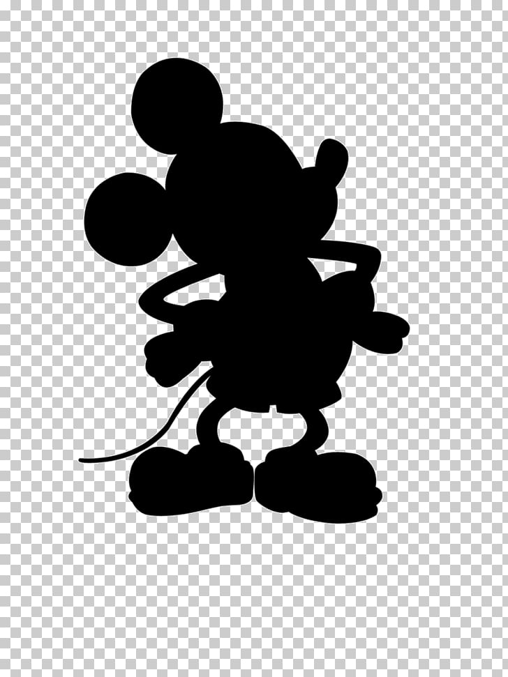 Mickey Mouse Minnie Mouse Silhouette , mini, Mickey Mouse.