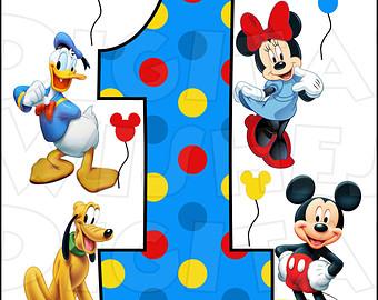 Mickey mouse 1st birthday shirt.