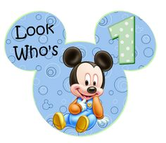 Mickey Mouse 1st Birthday Clipart.