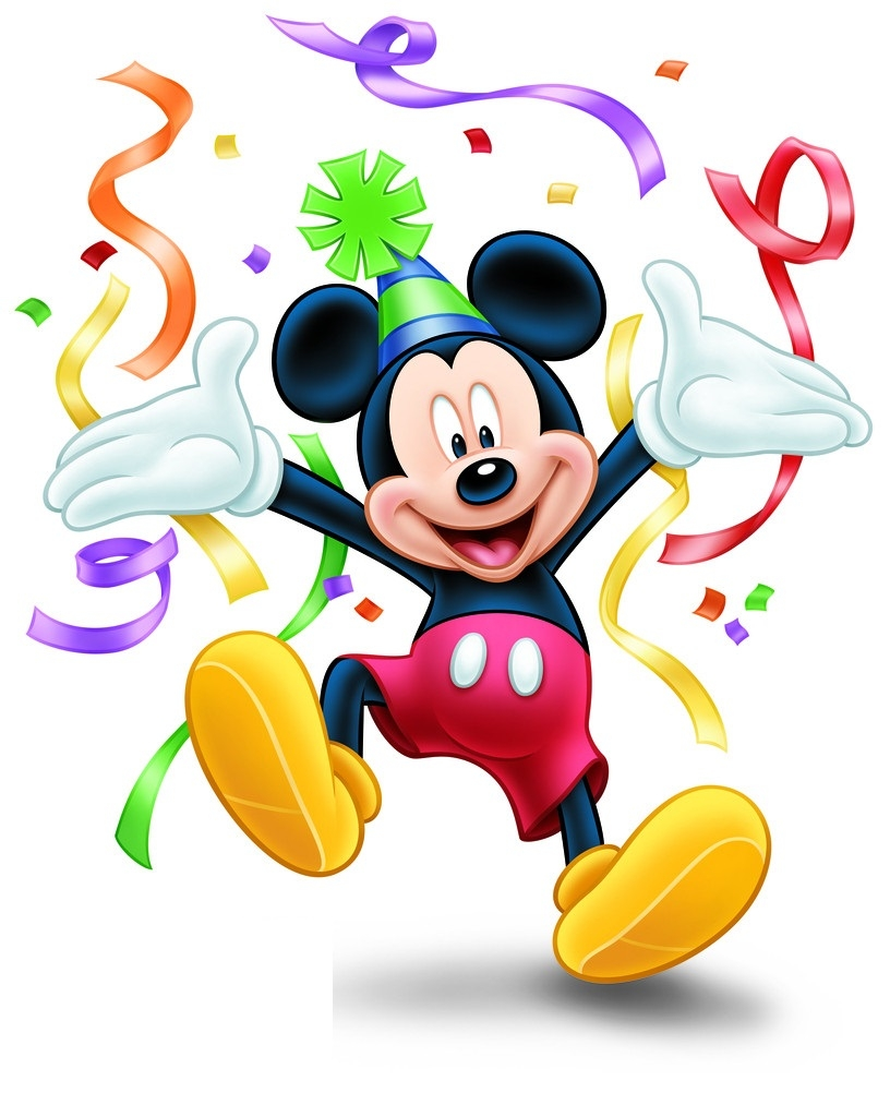 Mickey Mouse Birthday Girl Clipart.