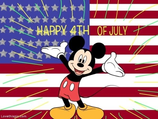 Mickey Mouse Happy 4th of July usa america patriotic mickey.