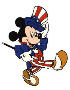 Hilarious Disney free 4th of July clipart image: American.