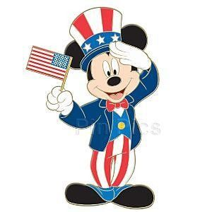 Mickey Mouse Adorning Stars & Stripes ~ Disney Style 2014.
