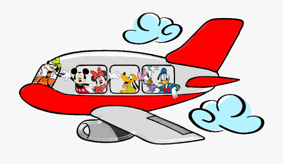 Minnie Mouse Clipart Airplane.