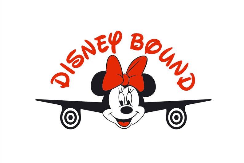 Minnie Mouse svg Disney Bound family shirt design Airplane Mickey Minnie  Mouse SVG Airplane Minnie Disney Bound Disney trip disney world svg.