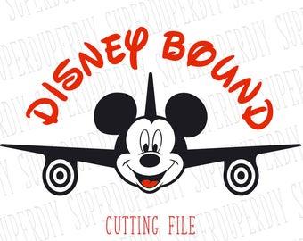 Mickey airplane svg.