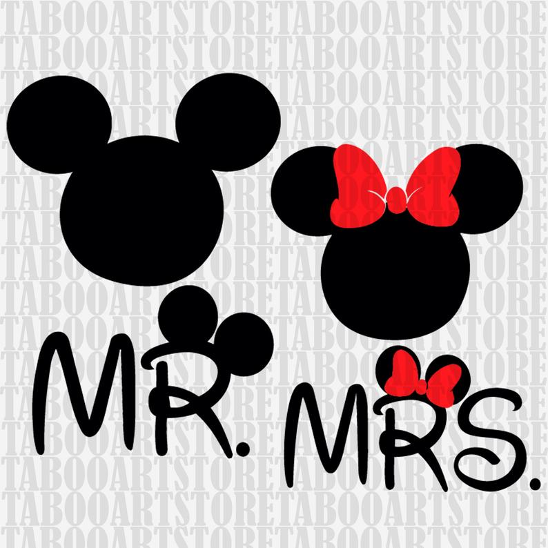 SVG Disney couple Mickey Mouse Clipart, Disney Minnie Mouse, Disney Mr mrs  Mouse silhouette, Disney mickey mouse vector, vector files.