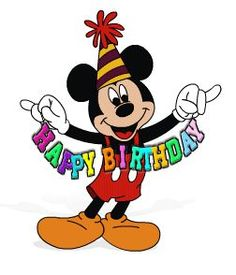 Mickey Mouse Birthday Clipart.